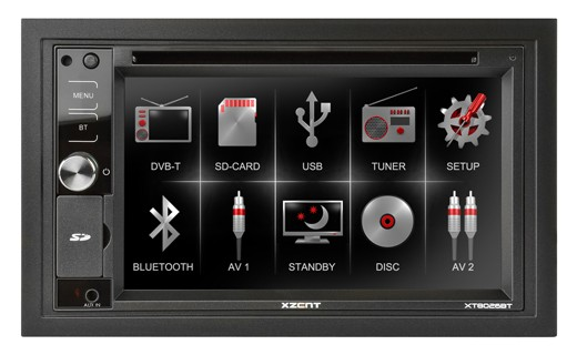 2-DIN autorádio s DVD moniceiver Xzant XT8026BT
