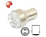 Žárovka 12 LED 12V BaY15d (dvouvláknová)