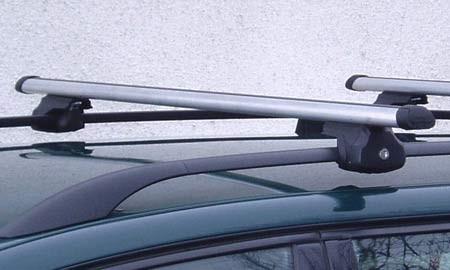 Střešní nosič ALU pro Peugeot 206 s podélníky